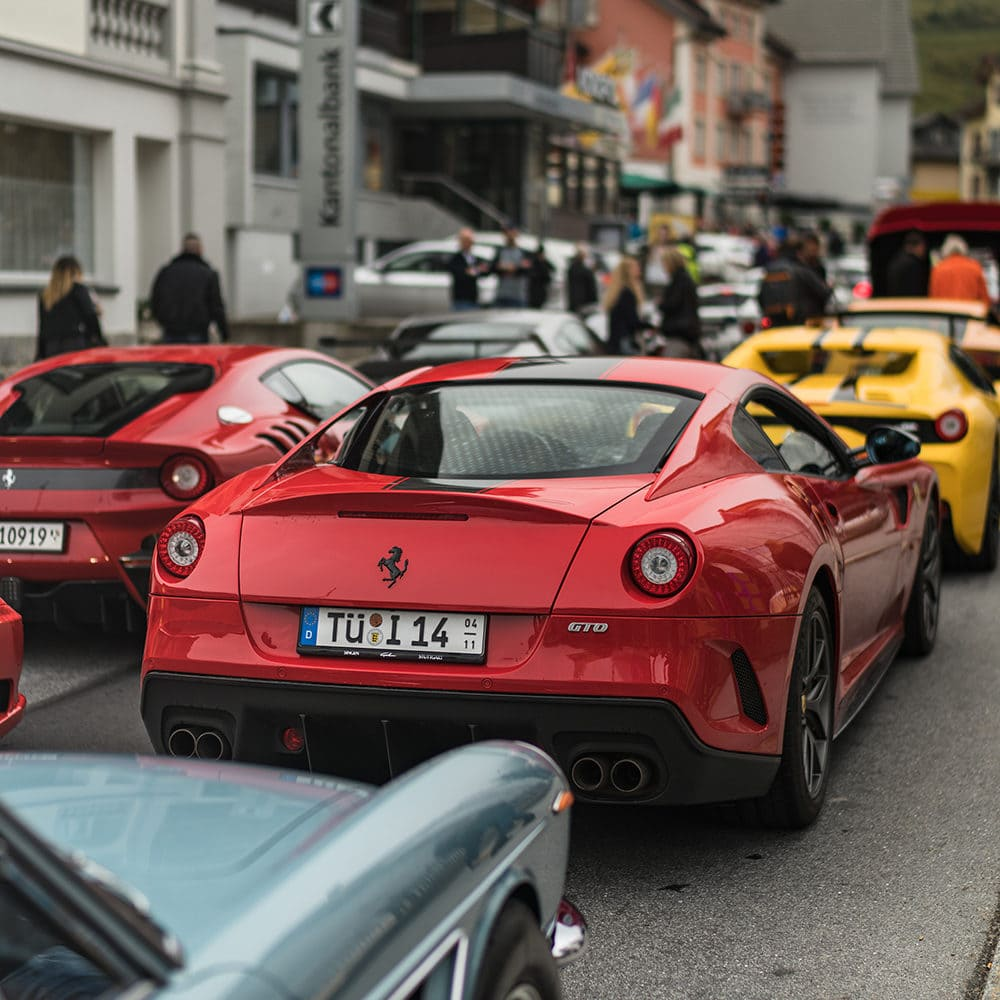 Supercar traffic jam